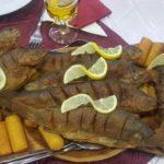 sült hal burgonykrokettel