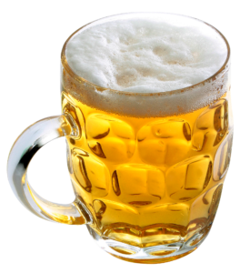 Egy korsó sör.