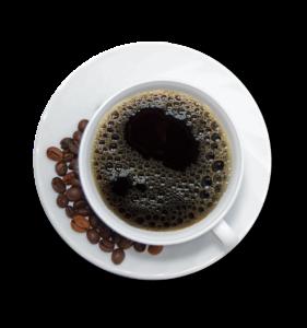 Egy csésze kávé.