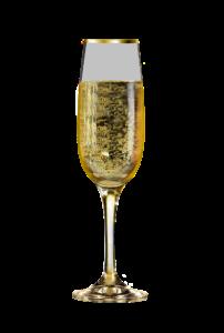 Egy pohár pezsgő.