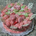 Fényes Cukrászda által készített macaron torta.