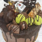Fényes Cukrászda által készített csokis, whisky torta,